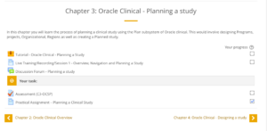 LMS Modules - Oracle Clinical Program