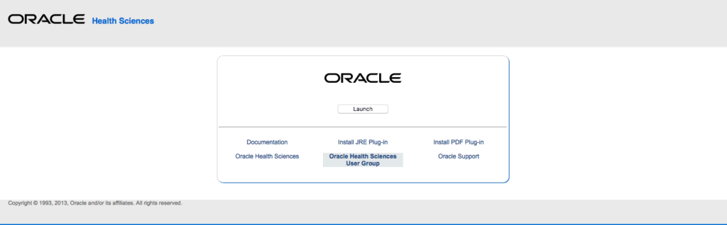 Oracle Clinical Application
